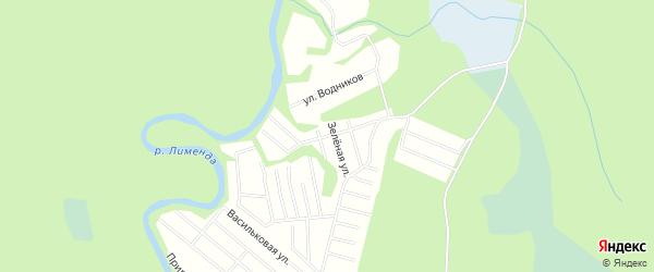 Карта поселка СОТА Силикатчика в Архангельской области с улицами и номерами домов