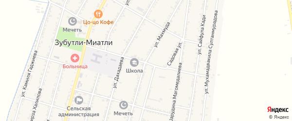 Улица Махмуда на карте села Миатли с номерами домов