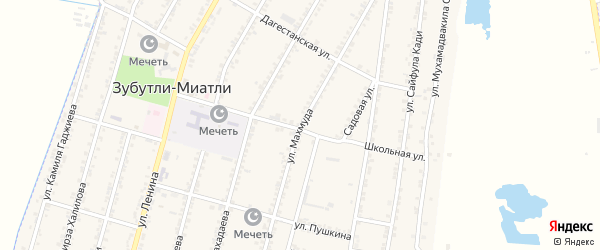 Улица Махмуда на карте села Зубутли-Миатли с номерами домов