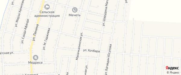 Улица Имама Шамиля на карте села Миатли с номерами домов
