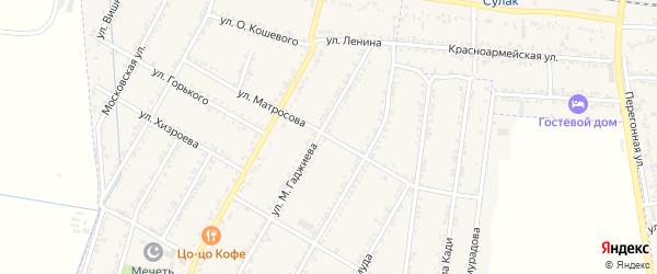 Улица Мотросова на карте села Зубутли-Миатли с номерами домов