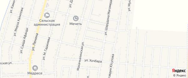 Улица Меджидова на карте села Зубутли-Миатли с номерами домов