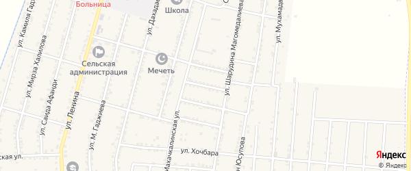 Улица Дадаева на карте села Миатли с номерами домов