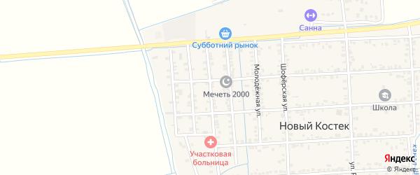 Улица А.Магомедова на карте села Нового Костека с номерами домов