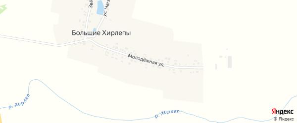 Звездная улица на карте деревни Большие Хирлепы с номерами домов