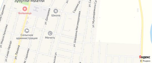 Молодежная улица на карте села Миатли с номерами домов
