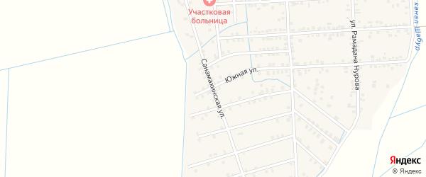Санамахинская улица на карте села Нового Костека с номерами домов