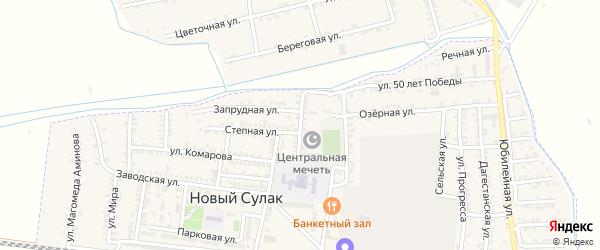 Улица Сафара Дударова на карте поселка Нового Сулака с номерами домов