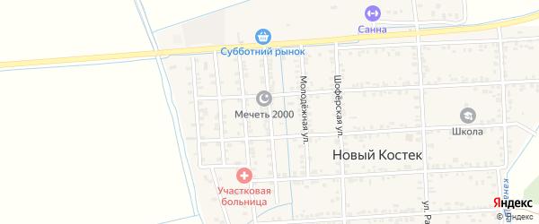 Дагестанская улица на карте села Нового Костека с номерами домов