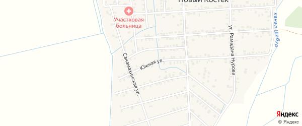 Южная улица на карте села Нового Костека с номерами домов