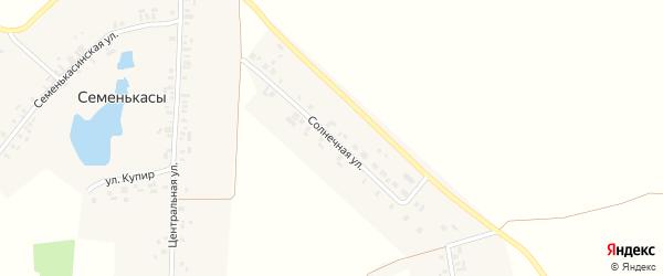 Солнечная улица на карте деревни Адабая с номерами домов