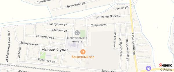 Инженерная улица на карте поселка Нового Сулака с номерами домов