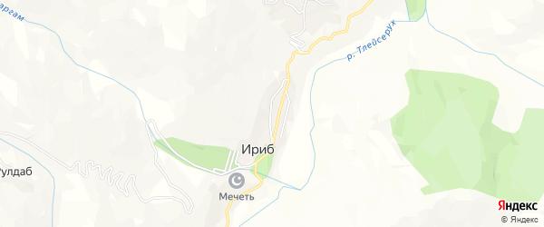 Карта села Ириба в Дагестане с улицами и номерами домов