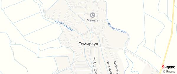 Карта села Темираула в Дагестане с улицами и номерами домов