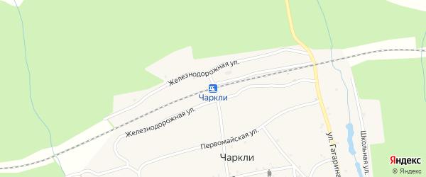 Кооперативный переулок на карте разъезда Чаркли с номерами домов