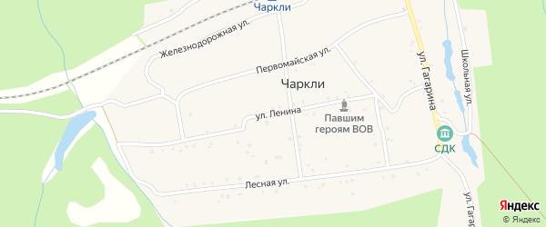 Улица Ленина на карте разъезда Чаркли с номерами домов