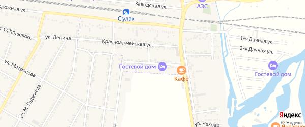 Улица Сулеймана Стальского на карте поселка Нового Сулака с номерами домов