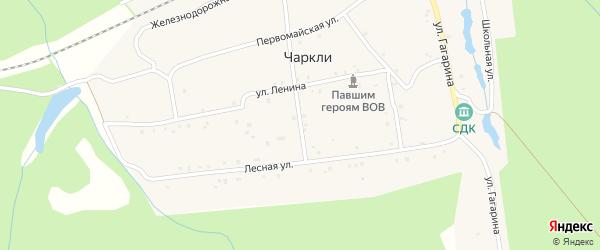Школьный переулок на карте разъезда Чаркли с номерами домов