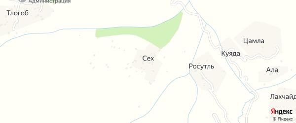 Сехская улица на карте хутора Сеха с номерами домов