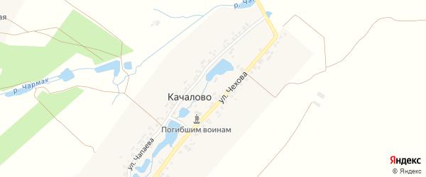 Улица Чехова на карте деревни Качалово с номерами домов