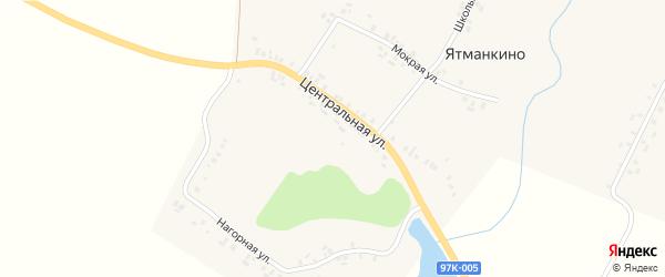 Центральная улица на карте деревни Ятманкино с номерами домов