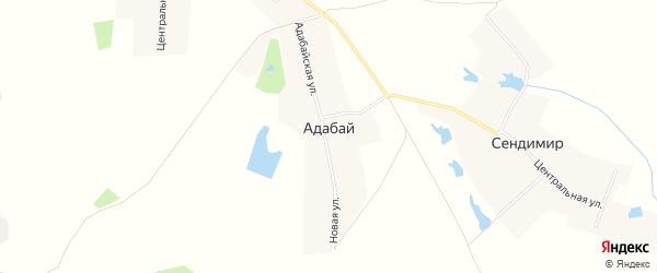 Карта деревни Адабая в Чувашии с улицами и номерами домов