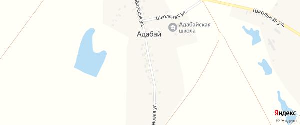 Адабайская улица на карте деревни Адабая с номерами домов