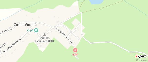 Почтовая улица на карте Соловьевского поселка с номерами домов