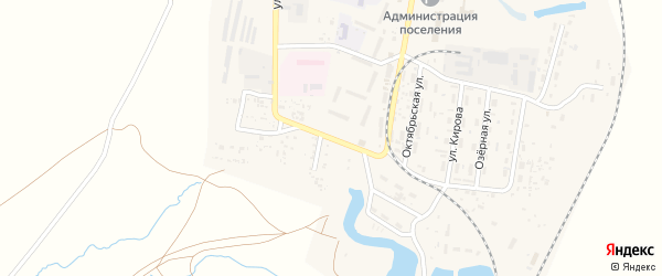 Улица Макарова на карте поселка Нижнего Баскунчака с номерами домов