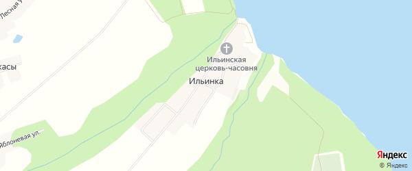 Карта села Ильинки в Чувашии с улицами и номерами домов