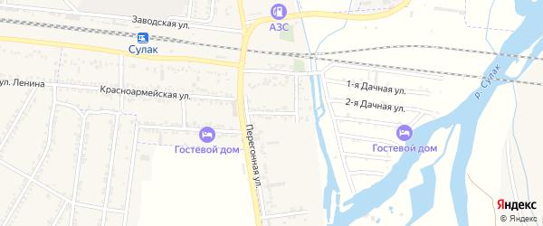 Улица Чапаева на карте поселка Нового Сулака с номерами домов