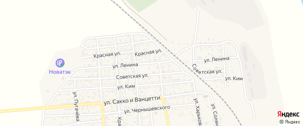 Улица Ленина на карте поселка Нижнего Баскунчака с номерами домов