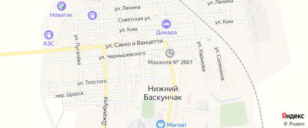 Улица Чернышевского на карте поселка Нижнего Баскунчака с номерами домов