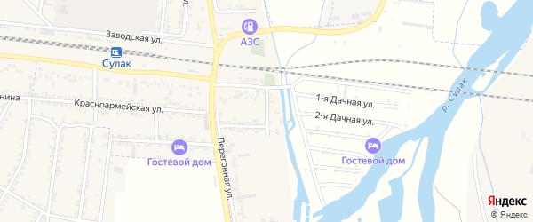 Набережная улица на карте поселка Нового Сулака с номерами домов