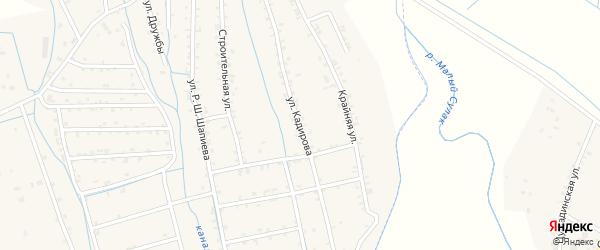 Улица Кадирова А.Б. на карте села Темираула с номерами домов