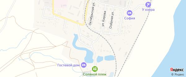 Железнодорожная улица на карте поселка Нижнего Баскунчака с номерами домов