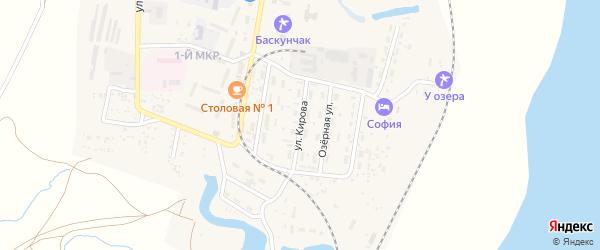 Улица Кирова на карте поселка Нижнего Баскунчака с номерами домов