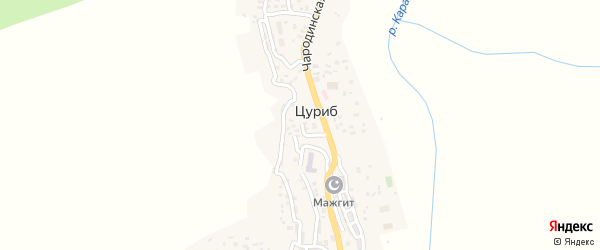 Улица Муслимова Асильдара на карте села Цуриба с номерами домов