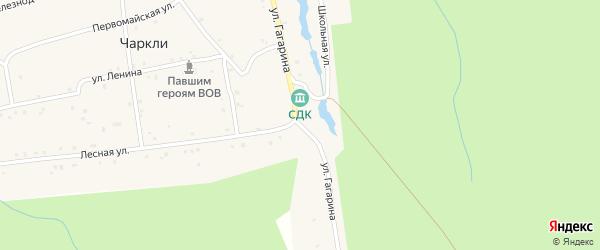 Улица Гагарина на карте разъезда Чаркли с номерами домов