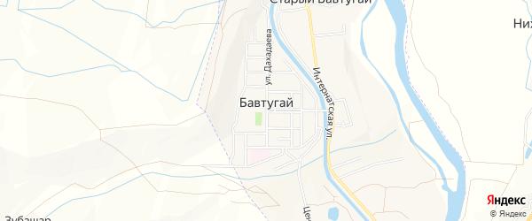 Карта поселка Бавтугая города Кизилюрта в Дагестане с улицами и номерами домов
