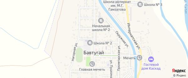 Улица 40 лет Октября на карте поселка Бавтугая с номерами домов