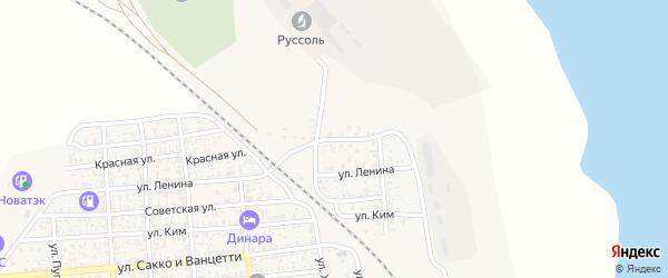 Красная улица на карте поселка Нижнего Баскунчака с номерами домов