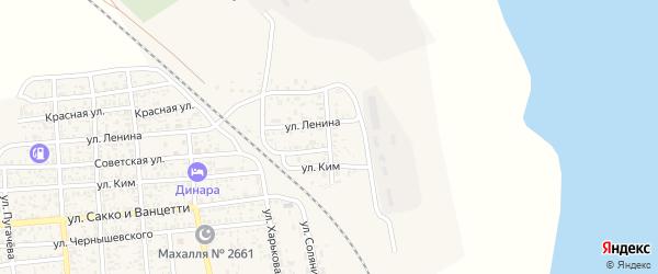 Улица Молодой Гвардии на карте поселка Нижнего Баскунчака с номерами домов