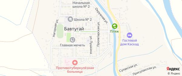 Улица Пушкина на карте поселка Бавтугая с номерами домов