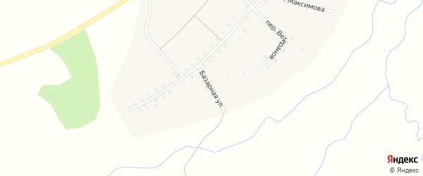 Базарная улица на карте деревни Чураккас с номерами домов