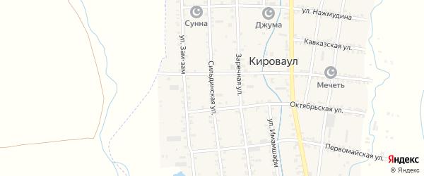 Сильдинская улица на карте села Кироваула с номерами домов