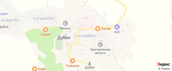1-й квартал на карте поселка Дубки с номерами домов