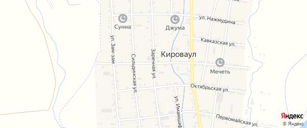 Заречная улица на карте села Кироваула с номерами домов