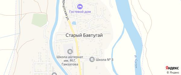Улица Мирового Октября на карте поселка Бавтугая с номерами домов