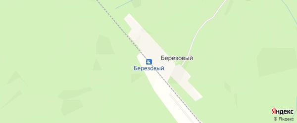Карта железнодорожной станции Березового в Архангельской области с улицами и номерами домов